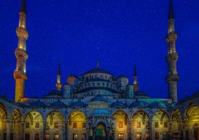Mramorno more, Istanbl, Turska, Evropski gradovi, Plava džamija